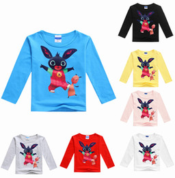 Wholesale Bunny Tee - 7 colors Bing Bunny Children Tees long sleeve spring autumn Boys Girls Cartoon T Shirts tops Clothing Dhl fast shipping free