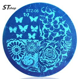 Wholesale Templates For Printing - Wholesale-1pcs Various Butterfly Flower Nail Art Stamping Template Image Plate DIY Print Decoration Beauty Stencils for Nails Tools STZA06
