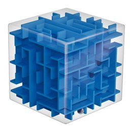 Wholesale Maze Cube Toy - Wholesale- 3D Magic Cube Ball Maze Skew Cube Puzzle Toys Early Childhood Educational Toys Intelligence Toys Gift Cubos Magicos Game