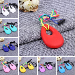 Wholesale Tooth Pendant Necklace - Silicone Teeth Necklaces Baby Teether Toys Food Grade Soft Teething BPA Free Toddler Infant Tooth Training Chewing Molars Massager Pendant