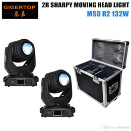 Wholesale Packaging Structure - TIPTOP 2pcs Sharpy Beam 132W Beam 2R Moving Head Light with Flight Case package Aluminium structure with die-cast plastic cover