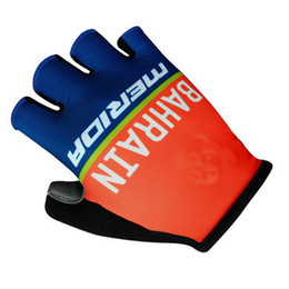 Wholesale Merida Pro Cycling - Hot Sale 2017 BAHRAIN MERIDA PRO TEAM RED Cycling Bike Gloves Bicycle Gel Shockproof Sports Half Finger Glove