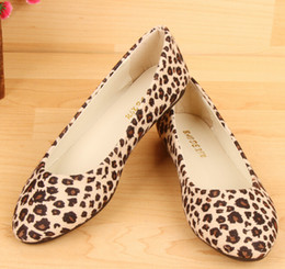 Wholesale Leopard Print Heels For Women - Lowest Price !New Arrival 2017 Fashion Spring and Autumn Flats for Women Flat heel Shoes Leopard Flats Women Shoes Free Shipping