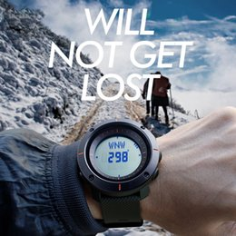 Wholesale Electronics Rubber Watches - Luxury watch men's multi-functional sports electronic watch the night light compass calendar waterproof stopwatch countdown electronic core