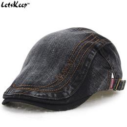 All ingrosso-2016 New Letskeep berretti di cotone berretto da uomo donna  newsboy berretto Gatsby Style uomo cappello casual snapback jeans berretti  piatti 1d4e7f389c14