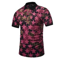 Wholesale Manga Corta - 3D Five-pointed star New brand style polo shirt men fashion camisa masculina hombre manga corta marca blouse blusa chemise homme