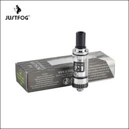 Wholesale Ego 2ml Clearomizer - 100% Authentic Justfog Q16 Atomizer 2ml e-Liquid Capacity 1.6ohm Pyrex Glass Tank Clearomizer For 510 ego Thread Mod