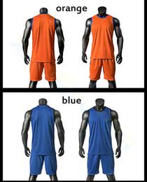 Wholesale Wholesale Basketball Uniform - Adult Men Basketball Jersey Sets Uniforms kits Sports clothes women breathable basketball vest game shirt shorts suits pants