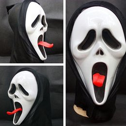 Wholesale Skull Mask For Masquerade - Scary Scream Ghost Mask Masquerade Latex Party Dress Skull Ghost Face 3D Mask Hollween Skeleton Horror