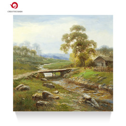Wholesale Canvas Farm - Hand painted oil painting living room office decoration rural farm scenery pastoral scenery