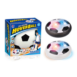 Wholesale Soft Led Balls - Hot Sale LED Hover Ball Air Power Soccer Indoor Football Foam Bumpers LED Light Ball Soft and Safe Family Toy Kids Semi-Surface Ball