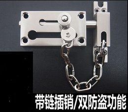 Wholesale Zinc alloy door window cm length mm thickness chain thump bolt latch home hotel door security access anti theft burglary