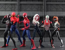 2019 figura de mujer araña Película SpiderMan Homecoming Gwen Stacy Spider Man 2099 Cartoon Toy Figura de Acción Muñeca Modelo Regalo figura de mujer araña baratos