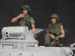 Wholesale Wwii Wholesale - Wholesale- Scale Models 1 35 US Tanker Vietnam War Set include 2 soldiers figure uncolor WWII Resin Model Free Shipping