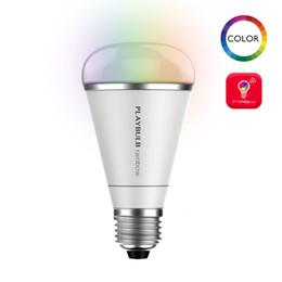 Wholesale Multi Color Led Bulbs E27 - Wholesale-Smart Stylish RGB Color Changing LED Light Bulb Lamp Decorative Multi Colors Remote Control MIPOW PlayBulb Rainbow 5W E26 E27