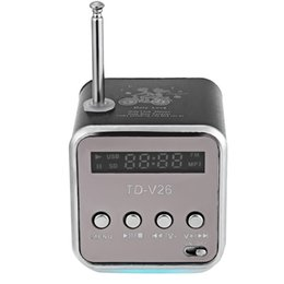 2019 altavoces digitales para pc Al por mayor-caliente! Portable Mini portátil FM Radio con altavoz estéreo LED Digital Soporte TF Card U Disk para PC / MP3 / 4 / Móvil / Tabletas rebajas altavoces digitales para pc