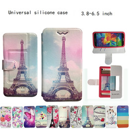 Wholesale Transparent Flip Case - Universal silicone case Card PU Flip Leather Case For Iphone X Samsung Note 8 S8 Plus G5 3.8 to 6.5 inch