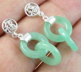 Wholesale Unusual Chandeliers - Fashion Jewelry Arrived Design Unusual Green Chalcedony Earrings