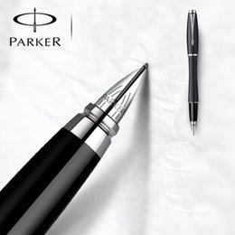 Wholesale Masculine Gifts - Brand Usa Metal Ink Pen Luxury Caneta Masculine Office Supplies Classic Design Logo Fountain Pens High Quality Gift Set Penne Di Lusso