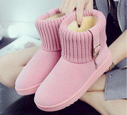 Wholesale Head Snow Boots - 2018 new round head boots winter high helper warm boots waterproof each woman's choice
