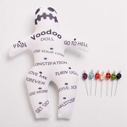 Brinquedos voodoo on-line-Autêntico Boneca Voodoo Com 7 cores Crânio Pins Karma keepers Mascote New Orleans Brinquedos para Adultos Nova Expedição Rápida