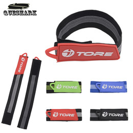 Wholesale Tie Band Bike - Wholesale- Practical Bike Bicycle Cycling Fixed Pants Band Leg Strap Belt Outdoor Sports Easy Tie Night Riding Safety Warning Trousers Clip
