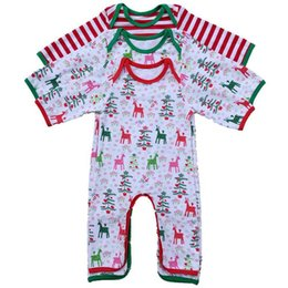 crianças print print veado Desconto Natal veados romper Pijamas dos desenhos animados do bebê Xmas Macacões crianças de impressão de alces de Natal roupas de Escalada