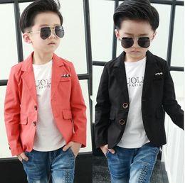 Wholesale Korean Boys Dressing - Children dress Boys Dress Jacket Suit small suit male Korean 2016 autumn new 3-10 Y