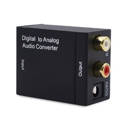 Wholesale R L Audio - AOEYOO Converter Digital Converter Spdif To RCA L R Audio 3.5mm Output Digital to Analog Audio Converter For PS4 Apple TV To Amplifier