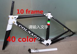 Wholesale Carbon Matte Frame - free shipping white black colnago C60 road bike carbon frame full carbon fiber road bike frame 46 48 50 52 54 56cm T1000 carbon frameset