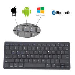 Wholesale Ipad Mini Systems - Professional Slim Mini Bluetooth Wireless Keyboard Teclado Windows IOS Android System For ipad pro 9.7 12.9 Rato com fio Laptop accessories
