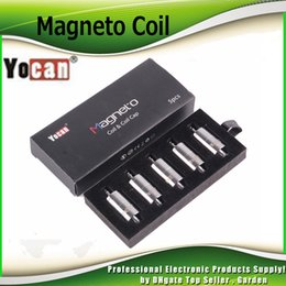 Wholesale Head Replacement Tools - Authentic Yocan Magneto Coil Ceramic Replacement Wax Head with Magnetic Cap Dab Tool Pure Flavour Fit Magnetic Wap Kit 100% Genuine 2204037