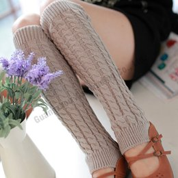 Wholesale Wholesale Winter Boots For Sale - Wholesale- Top sale leg warmers for women knitted wool fashion women warm winter leg warmers knitting cotton knit leg warmers boot one size