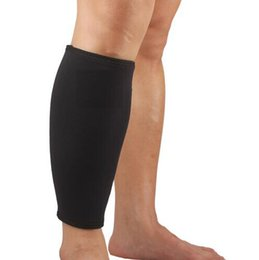 Wholesale Thigh Calf Compression - 1pcs Leg Sleeve Support Brace Knee Pads Kneepad Basketball Sport Compression Calf Stretch Brace Thigh Skin Protector Sport Safe
