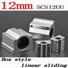 Wholesale Slide Cnc - Wholesale- 4pcs lot SC12UU SCS12UU Linear motion ball bearings slide block bushing for 12mm linear shaft guide rail CNC parts