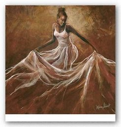 Wholesale Oil Painting African Art - Ethereal Grace Monica Stewart,Pure Handpainted AFRICAN AMERICAN Art oil Painting On Canvas Museum Quality,any customized size,ebon