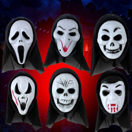 Wholesale Woman Screaming - Halloween Mask Scary Ghost Mask Scream Costume Party Creepy Skull Scary Ghosts Masks Cosplay Costumes Prop 1000pcs OOA3066