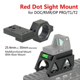 Wholesale Doctor Dot - Red Dot Sight Mount Multifunctional Mount With Riser Mount For Airsoft Fit for DOCTOR RMR DP PRO T1 T2 Red Dot Sight CL24-0179