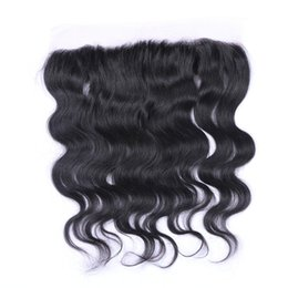 Wholesale 5a Brazilian Deep Wave - Brazilian 13x3 Lace Frontals Closure 5A Lace Frontals With Baby Hair Body Wave Human Hair Ear To Ear Lace Closure