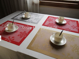 Wholesale Snowflake Cushions - Wholesale- Genuine thickened PVC high-end hotel dining cushion plate mat bowls mat table mat christmas snowflake