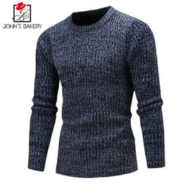 Wholesale Wholesale Mens Sweaters - Wholesale- Sweater Men 2017 Brand Pullovers Casual Sweater Male O-Neck Multi-Color Slim Fit Knitting Mens Sweaters Man Pullover Men XXL DX