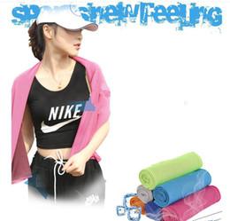 übung bambus handtuch Rabatt bambusfaser gym kühles handtuch sommer für yoga gym sport kühltuch eiskalt fitness outdoor übung eis handtuch kka1807