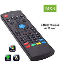 Wholesale Wireless Learning Remote Control - X8 2.4Ghz Wireless Keyboard MX3 3D IR Learning Mode Fly Air Mouse Remote Control for Mini PC Android Smart TV Box