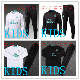 Wholesale Boys Suit Shorts - HAVE SPONSOR 2017 kids Real Madrid survetement football KIDS tracksuits 2018 Ronaldo Long pants wear YOUTH training suit jacket kit
