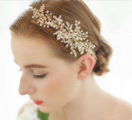Wholesale Hand Made Head Band - Wedding bridal Hair Band Hand Made Crystal Beaded Head Pieces Bridal Accessories SL5