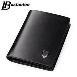 Wholesale Leather Business Card Wallet Price - Wholesale- Bostanten 2017 Luxury Men Wallets Leather Male Money Purses Famous Brand New Designer Short Purse With Card Holder Dollar Price