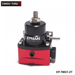 Wholesale Performance Pressure - EPMAN-NEW RACING sport EFI Injected Bypass Fuel Pressure Regulator -AN6 High Performance JDM Adjustable Black-Red EP-7MGT-ZT