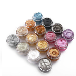 Wholesale Gem Light - LOVE ALPHA eye shadow eye shadow cream Light shimmering gems eye pigment color forzen 0.21OZ 14 colors