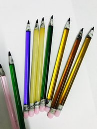 Wholesale Mix Oils - New pencil Dabbers Colorful oil rig glass bong dabs tools dabber glass dabber oil dabbers mix colors
