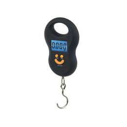 50Kg / 10g Hängewaage Mini Digitalwaage Backlight Angeln Taschenwaage Lächeln Gesicht Gepäck Waagen WH-A03L 100 teile / los Freies DHL von Fabrikanten